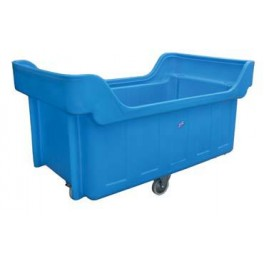 1500L Stepped Base Trolley with 25mm Galvanised Box Section Chassis