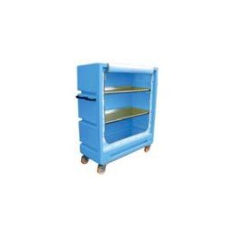 "4ft 11"" Distribution Trolley (Curtain Model with 2 Aliminium Shelves)"