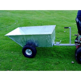 Tipping Dump Trailer - Wide Profile Wheels - Galvanised Body SCH-GDTT/GALV