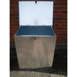 Flat Pack Galvanised Medium Bin - 1 compartment