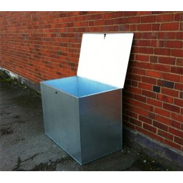 Flat Pack Galvanised Large Bin - 1 compartment