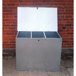 Flat Pack Galvanised Feed Bin - 2 size options - 1 Compartment