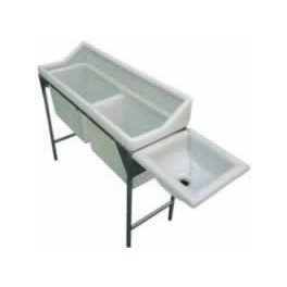Slim Double Wash Trough with Drain off and Plug