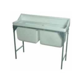 Double 55 Gallon Wash Trough with Drain off and Plug