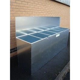 6 Compartment Galvanised Feed Bin - 1015 ltrs