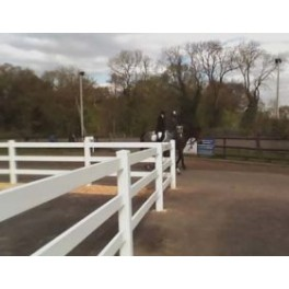 Pack of 3 - Vinyl Equine Fencing 2 rails, 8ft wide x 3ft high